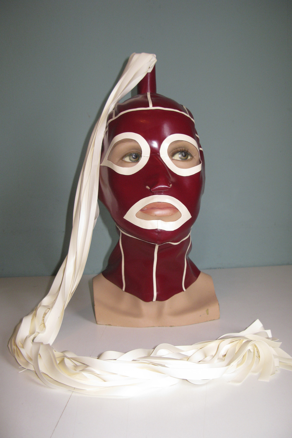 Ponytail Hood with Eye and Lip Feature