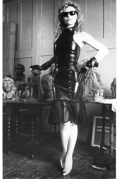 Chiffon & Latex Skirt