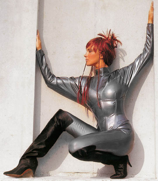 Catsuit with detachable Waspie