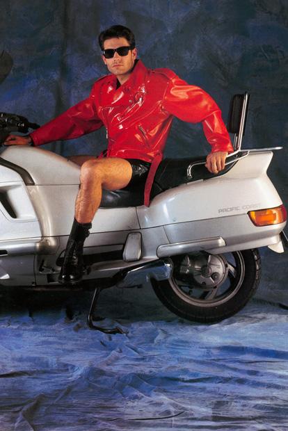 Mans Belted Bikers Jacket