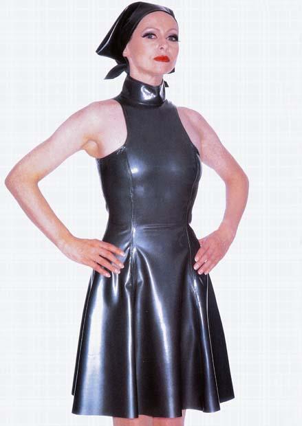 High Neck Fluted Dress