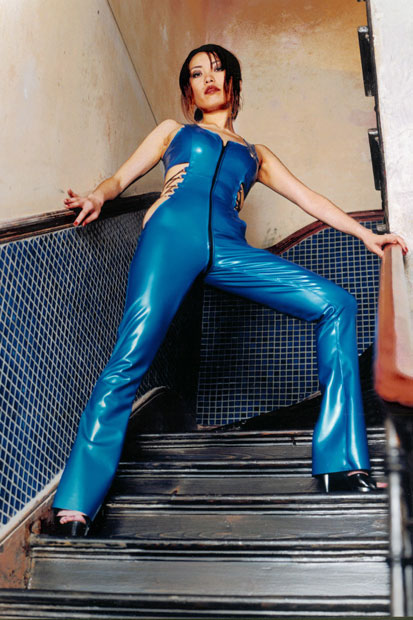 Catsuit With Flared Hem