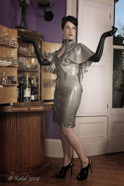 Cape Sleeved Dress