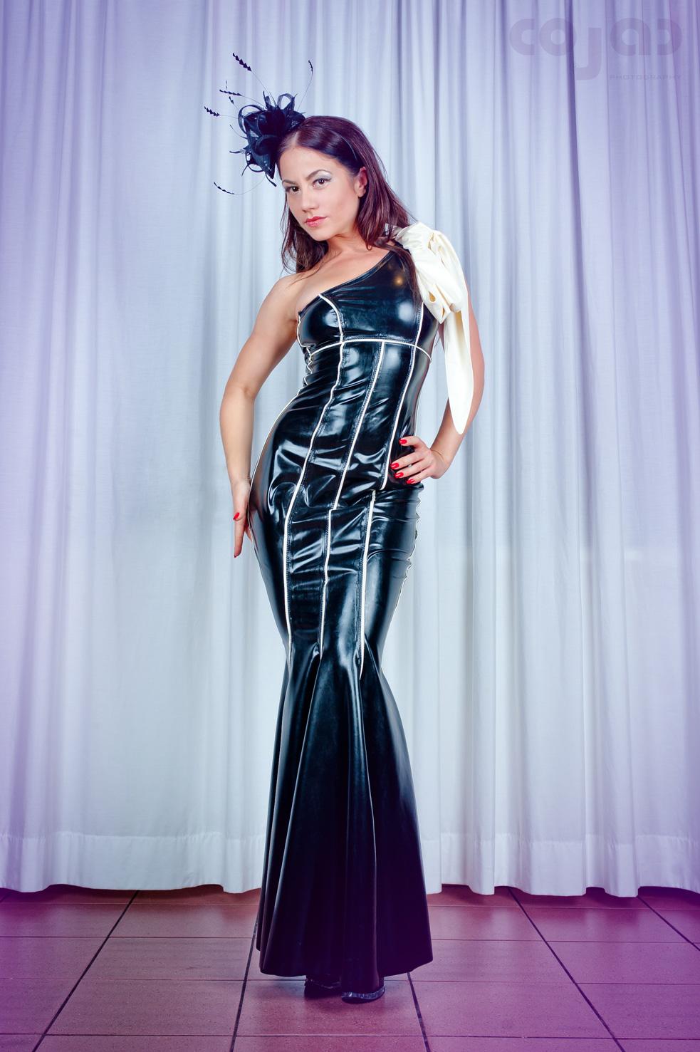 Striped One Shoulder Strap Dress